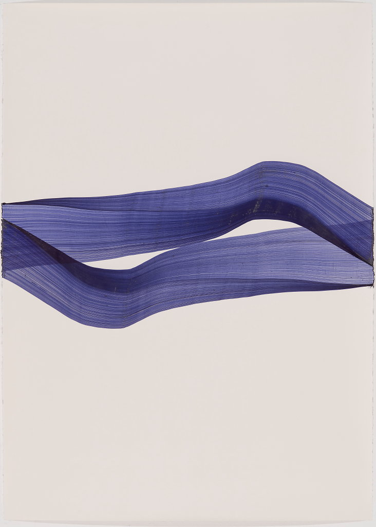 GF 2, Thomas Müller, o.T., 2018, Kugelschreiber auf Arches Bütten, 160 x 115 cm