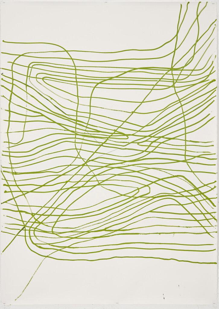 WK 120, Ohne Titel, 2011, Tusche und Ölfarbe auf Arches Bütten, 160 x 115 cm
